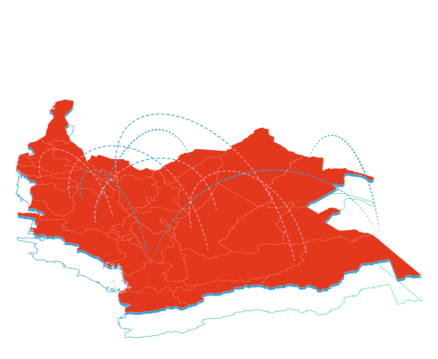 Colombia iso map
